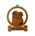 081385 Australian Shepherd Head #1 Personalized with Your Dog's Name