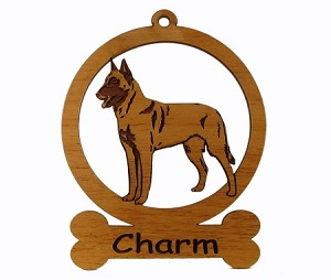081623 Belgian Malinois Standing Personalized with Your Dog's Name