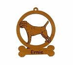 081896 Border Terrier Standing Personalized with Your Dog's Name