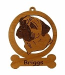 082020 Bullmastiff Head #2 Personalized with Your Dog's Name