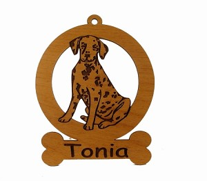 083045 Dalmatian Sitting Personalized with Your Dog's Name