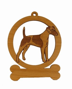 083198 Smooth Fox Terrier Ornament Personalized with Your Dog's Name