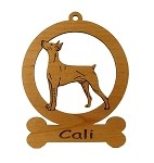 083207 German  Pinscher #1 Ornament Personalized with Your Dog's Name