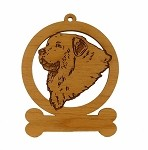 083301 Great Pyrenees Head Ornament Personalized with Your Dog's Name