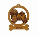 083345 Havanese Standing #1 Ornament Personalized with Your Dog's Name