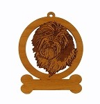 083347 Havanese Head Ornament Personalized with Your Dog's Name