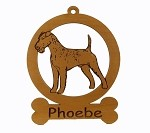 083381 Irish Terrier Standing Ornament Personalized with Your Dog's Name