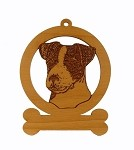 083416 Jack Russell  Head Ornament Personalized with Your Dog's Name