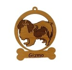 083425 Japanese Chin Ornament Personalized with Your Dog's Name