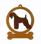 083445 Kerry Blue Terrier Ornament Personalized with Your Dog's Name