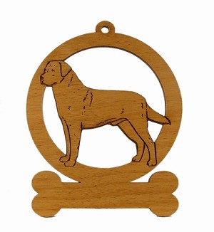 083478 Labrador  Standing #2 Ornament Personalized with Your Dog's Name