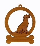 083479 Labrador Sitting Ornament Personalized with Your Dog's Name