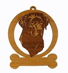 083481 Labrador Head #2 Ornament Personalized with Your Dog's Name