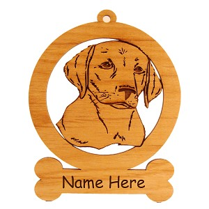 083483 Labrador Puppy Head#1 Dog Ornament Personalized with Your Dog's Name