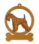 08394 Lakeland Terrier Ornament Personalized with Your Dog's Name