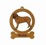 083545 Mastiff Standing Ornament Personalized with Your Dog's Name