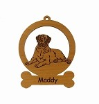 083546 Mastiff Down Ornament Personalized with Your Dog's Name