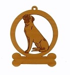 083547 Mastiff Sitting Ornament Personalized with Your Dog's Name