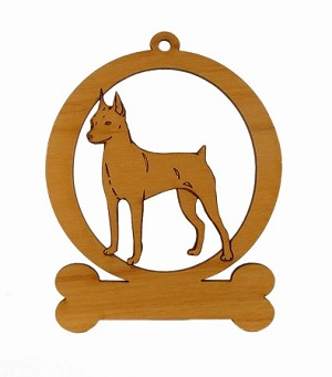 083562 Miniature Pinscher Ornament Personalized with Your Dog's Name