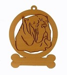 083588 Neopolitan Mastiff Ornament Personalized with Your Dog's Name