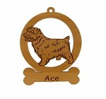 083605 Norfolk Terrier Ornament Personalized with Your Dog's Name