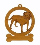 083627 Olde English Bulldogge Standing Ornament Personalized with Your Dog's Name