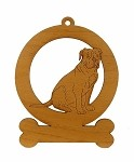 083628 Olde English Bulldogge Sitting Ornament Personalized with Your Dog's Name
