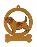 083688 PBGV Standing Ornament Personalized with Your Dog's Name