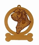 083689 PBGV Head Ornament Personalized with Your Dog's Name