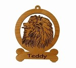 083735  Pomeranian Head Ornament Personalized with Your Dog's Name