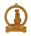 083821 Rhodesian Ridgebackk Sitting Ornament Personalized with Your Dog's Name