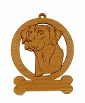 083822 Rhodesian Ridgeback Head Ornament Personalized with Your Dog's Name