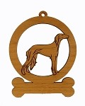083846 Saluki Standing Ornament Personalized with Your Dog's Name