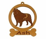 083872 Schipperke Standing Ornament Personalized with Your Dog's Name