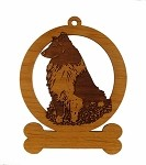083931 Sheltie Sitting Ornament Personalized with Your Dog's Name