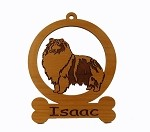 083933 Sheltie Standing #2 Ornament Personalized with Your Dog's Name