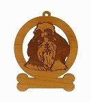 083963 Shih Tzu Head Ornament Personalized with Your Dog's Name