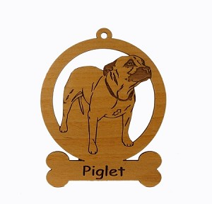 084132 Staffordshire Terrier Ornament Personalized with Your Dog's Name