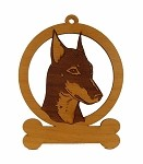 084138 Standard Manchester Ornament Personalized with Your Dog's Name