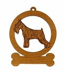 084148 Standard Schnauzer Ornament Personalized with Your Dog's Name