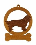 084155 Sussex Spaniel Ornament Personalized with Your Dog's Name