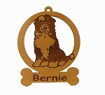 084174 Tibetan Terrier Sitting Ornament Personalized with Your Dog's Name