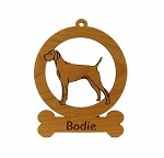 084192 Viszla Standing Ornament Personalized with Your Dog's Name