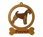 084209 Welsh Terrier Ornament Personalized with Your Dog's Name