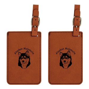 Alaskan Malamute Head Luggage Tag 2 Pack L1181