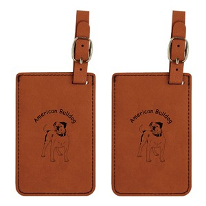 American Bulldog #2 Luggage Tag 2 Pack L1183