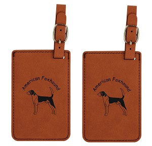 American Foxhound Luggage Tag 2 Pack L1244