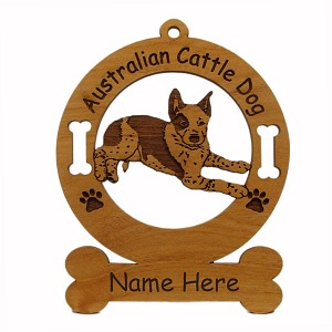 1298 Australian Cattle Dog Puppy Laying Down Ornament Personalized with Your Dog's Name
