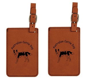 Australian Cattle Dog  Standing Luggage Tag 2 Pack L1302