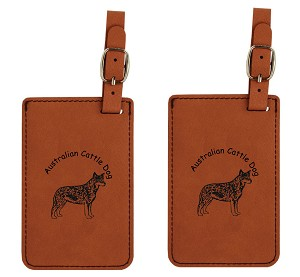 Australian Cattle Dog  Standing Luggage Tag 2 Pack L1309